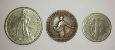 Spain – Complete collection of the Consejo de Asturias y León – Civil War – 1937 – 3 Coins