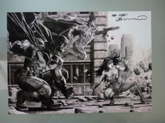 Lee Bermejo Signed Lithograph - Batman / Superman / Wonder Woman