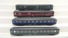Trix H0 - 33018 - Set express-train wagons of the Deutsche Bundesbahn (DB)