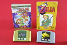 N64 Zelda Set with Ocarina of Time and Majora's Mask Games and Story Books