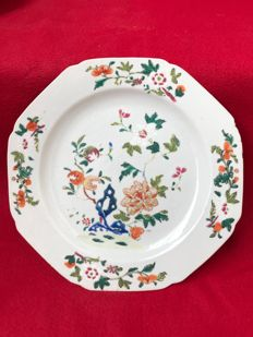 Famille verte/rose plate - China - ca. 1730 ( Yongzheng period )