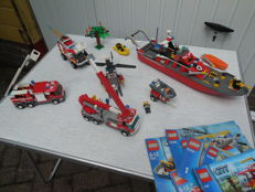 City Fire Department 4208 + 7238 + 7239 + 7239 + 7245 + 7906 - 4 × 4 Fire Truck + Fire Helicopter + Fire Truck and more