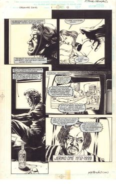 Original Art Page By Mike McKone - Marvel Comics - Strange Days : Movie Adaptation #1 - Page 9 - Signed - (1995)