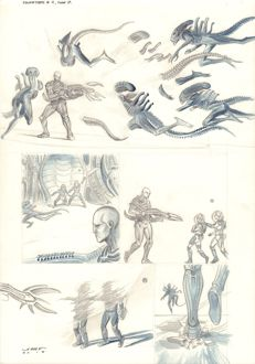 Original Comic Art By Juan Ferreyra - Dark Horse Comics - Prometheus : Fire and Stone #4 - Page 17 - Signed - (2014)