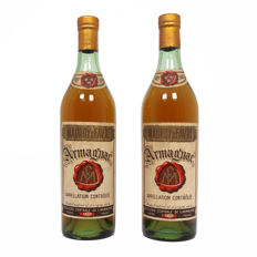 Pair of Mauroy & Favre Armagnac: three star grade - Excellent condition - 2 bottles total