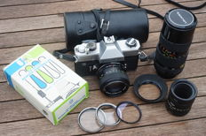 Fujica ST801 with 2 lenses and accessories