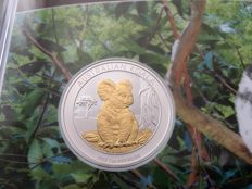 Australia - 1 Dollar 2017 'Koala' partial gold plated edition - 1 oz silver