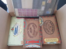 Netherlands and Overseas - batch including print flaws in cigar boxes and on tags