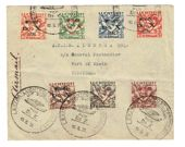 Regardez Suriname 1931 – Airmail stamps Do.X – NVPH LP8/LP14 op letter