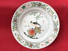 Famille verte bird plate - China - ca. 1700 (Kangxi period)