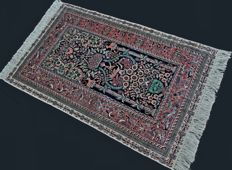 Collectible and prestigious luxury carpet Hereke Design MEHRAB, , pure silk on silk, up to 1,200,000 knots/m², 122 x 78 cm, In excellent condition, private collection...