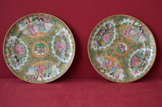 Pair of pocelain plates - China - 19th century