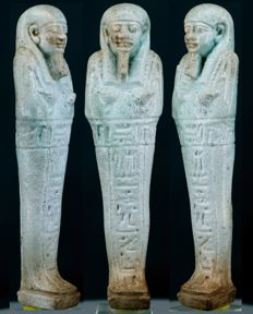 Faience Ushabti for the priest of Smentet Pa-Di-Osiris - ca. 13 cm a. 5,12 inches