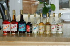 9 Bottles of Bols Liqueurs collection from the 1960s/1970s
