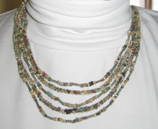 Old Egyptian necklace of faience beads - 43 cm.