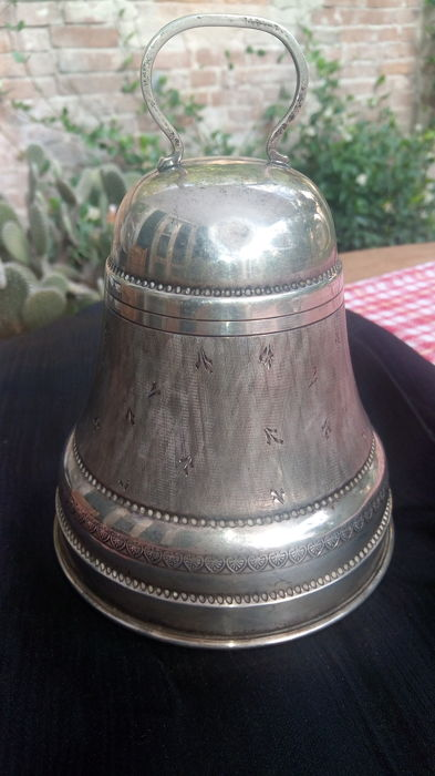 Bell-shaped music box - 800 silver - Italy - 1935