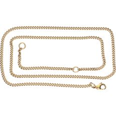 Yellow gold 14 kt curb link necklace – Length 46 cm