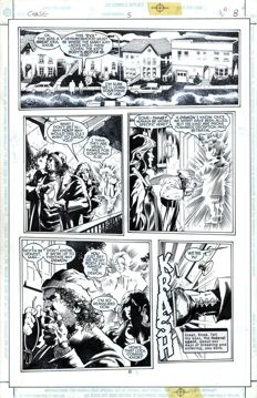 Original Art Page By Bob Hall - DC Comics - Chase #5 - Page 8 - (1998)
