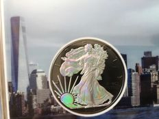USA - 1 Dollar 2017 'American Eagle' hologram & ruthenium plated edition - 1 oz silver