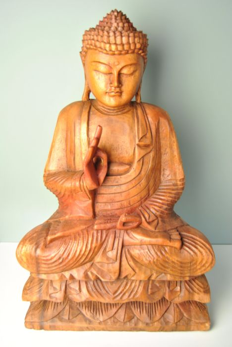 Wooden Buddha – Bali, Indonesia –  late 20th century