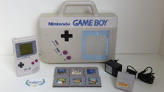 Game Boy DMG with unique carrying case, power adapter & 6 games