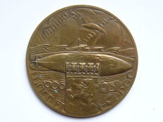 "The Netherlands – Medal 1931 ""25 Year Anniversary of the Dutch Royal Navy Submarine Service"" by: C.J. v.d. Hoef – bronze"