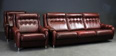 Unknown designer - Danish furniture producer - 3 seater sofa with 2 armchairs