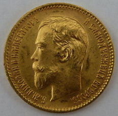 Russia - 5 Roubles 1898 - Gold