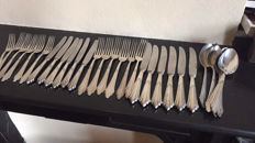 WMF Facher 6 person silver-plated dinner and breakfast cutlery, Germany, first half of 20th century