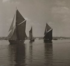 Beken and Son, Cowes (20th century) - Thames Barges in sail
