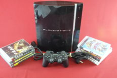 Sony Playstation 3 80GB (PS3) with 9 games