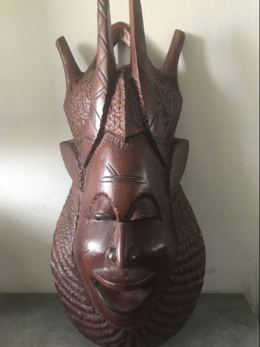 Wooden African mask.