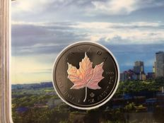 Canada - 5 Dollars 2017 'Maple Leaf' with hologram and ruthenium in blister - 1 oz silver