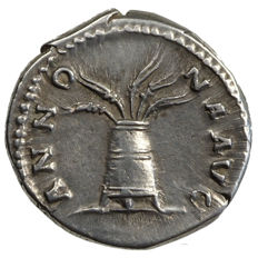 Roman Empire – HADRIAN (117-138) AR Denarius, Rome, MODIUS with ears