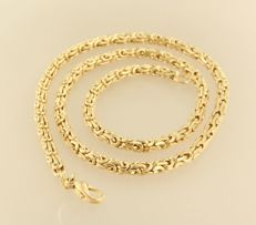 14 kt yellow gold King's braid necklace - 50 cm long