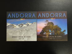 Andorra - Year sets 2014 and 2015 (2 different)