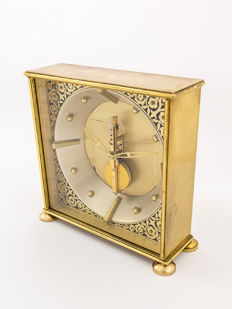 Jaeger-LeCoultre table clock with 8-day bridge movement - 1960s
