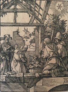 Albrecht Dürer (1471-1528) - The Nativity - 1510 - Print from the 16th or 17th c. or later