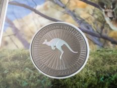 Australia - 1 Dollar 2017 'Kangaroo' hologram & ruthenium plated edition - 1 oz silver