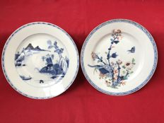Blue and white plates - China - Qianlong period (1736-1795)