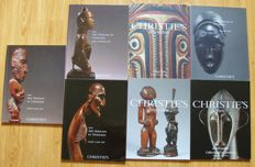 Lot of 6 (Art African and Oceania)  Christie catalogues in French and English language