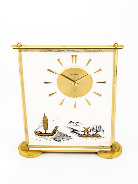 LeCoultre CHINOISE (Marina) table clock with 8 day movement – 1950s