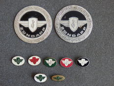 Collection of 7 zundapp pins plus two beautiful Original Badges of Zundapp - Tank emblem from the 1960s