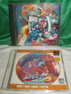 Rockman X4 (NTSC-J) + Rockman 5 Complete Works (NTSC-J) for Sony Playstation
