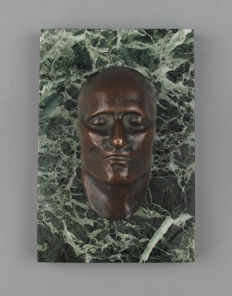Death mask Napoleon Bonaparte - Antique bronze sculpture - France circa 1880