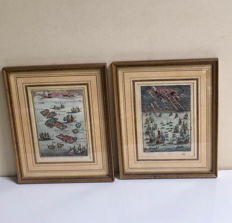 Two 19th century signed framed engravings