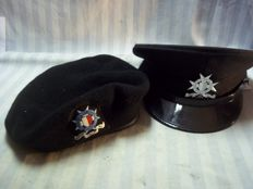 Police cap and beret special units of the police of Malta