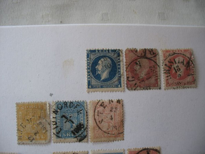 Norway - old collection on sheets