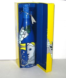 1982 Champagne Taittinger Collection - Lichtenstein en coffret