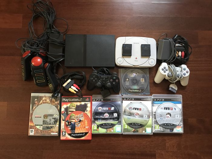 Lot of Ps2 consoles , Psone console , memory cards and Ps3 games